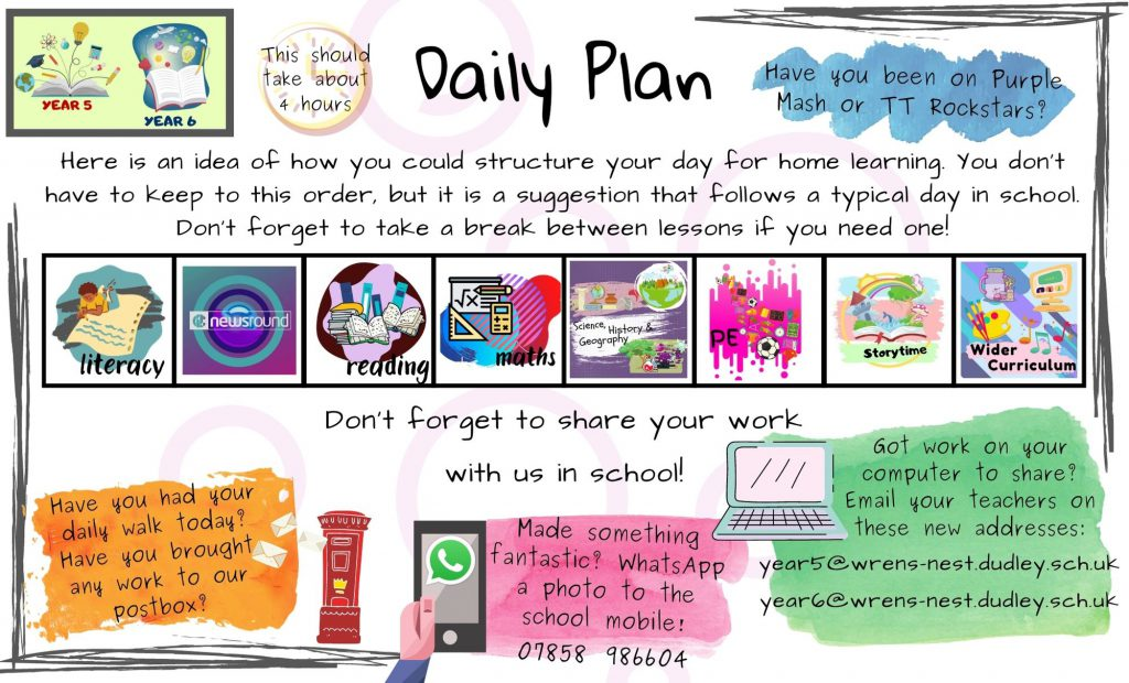 Year 5 and Year 6 Daily Plan